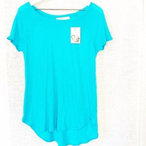 NWT Chaser Turquoise Blue Short Sleeve Tee